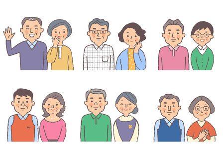 Six Japanese senior couples Stock fotó - 149526801