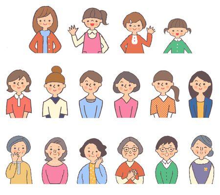 Set of women of different generations Stock fotó - 149526799