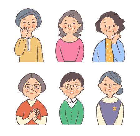Six senior women Stock fotó - 149526800