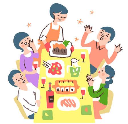 people who enjoy eating Stock fotó