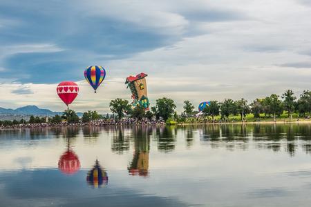 Artistic balloon festival view