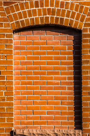 masonary: Brick archway window
