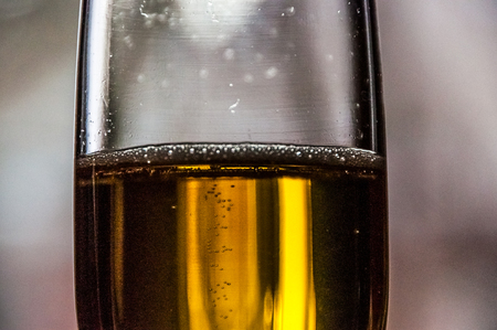 bubbly: Bubbly champagne in glass Stock Photo