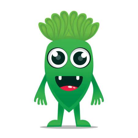 cute monsters design mascot kawaii