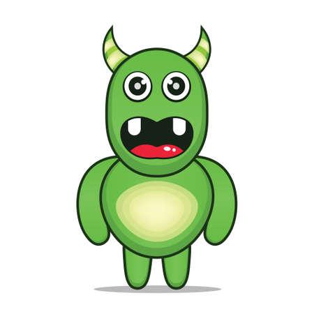 cute cartoon monsters mascot kawaii 向量圖像