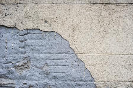 White concrete wall crack