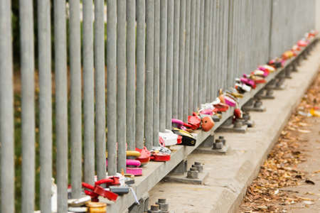 Love locks on the bridge  photo