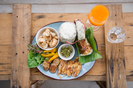 chiang mai: Set of Thai foods Northern style