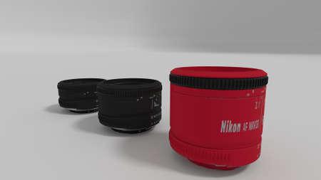 50mm: camera lenses 3d render