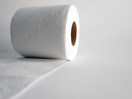A roll of tissue isolated on white