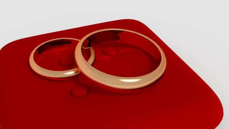 render: wedding rings 3d render