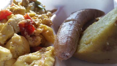 Ackee banana and sweet potato breakfast