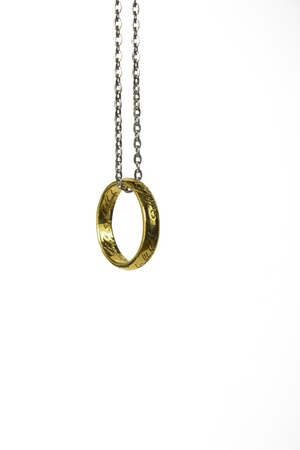 One Ring from lord of the rings. Banque d'images