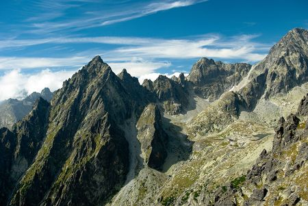 clearness: Tatra mountain peaks Stock Photo