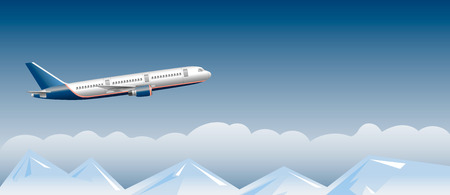 above clouds: passenger airplane above the clouds