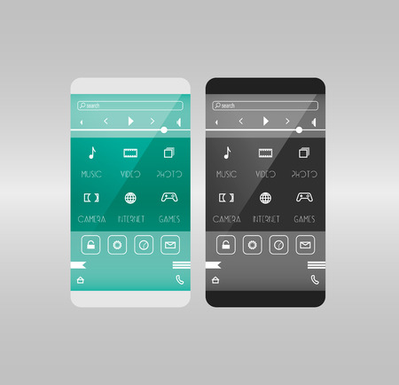mobile application: Mobile application interface concept. Flat phone