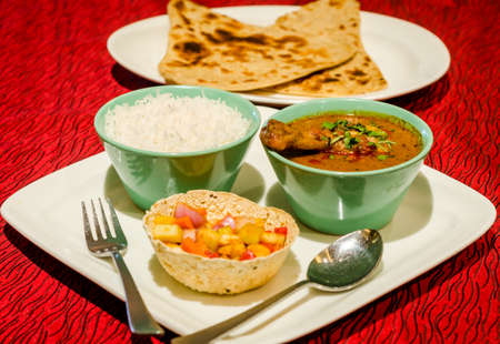 indian meal: Indian Meal Stock Photo