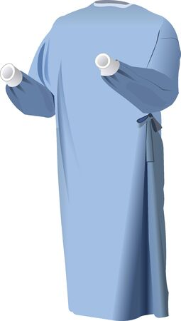 Vector Images of disposable surgical gown for Hospital
