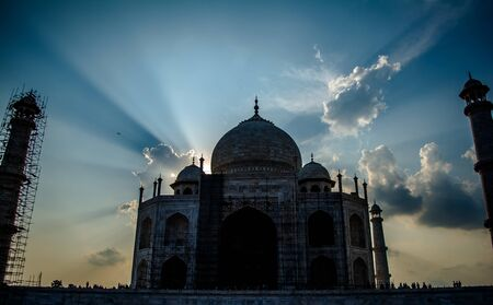 The Grate Taj Mahal of India was commissioned by Shah Jahan in 1631