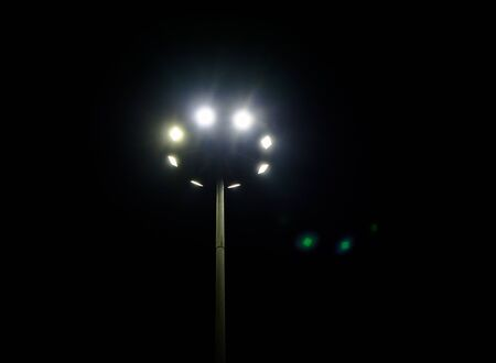 High Mast Lighting Pole, night view
