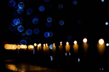 Happy Diwali - colorful decorating LED light for diwali  during diwali celebration