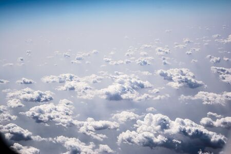 Wonderful clouds as observed from aircraft. aerial view 版權商用圖片