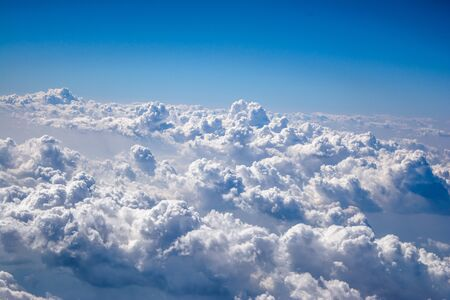 Wonderful clouds as observed from aircraft. aerial view