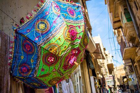 Rajasthani colorful umbrella Traditional handicrafts of rajasthan