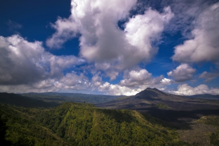 Mount Batur view from Kintamani photo