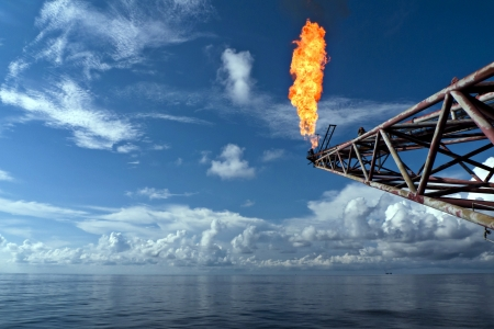 drilling well: Flare Boom