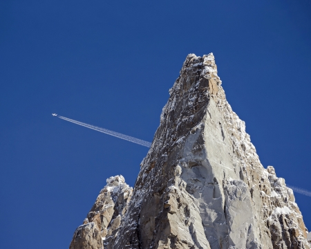 Mountain Peak and Airplane