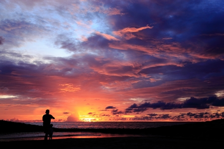 legian: Beautiful Sunset at Kuta Beach, Bali
