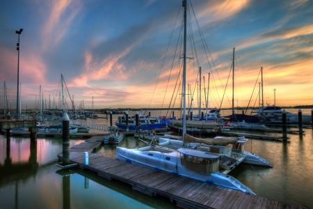 短歌湾サンセット 写真素材
