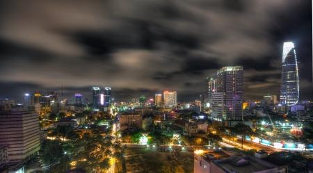 Ho Chi Minh city by night photo