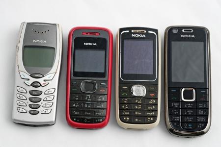 telephones: Nokia old phones Editorial