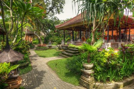 ubud: Peaceful landscape in Istana Ubud, Bali, Indonesia