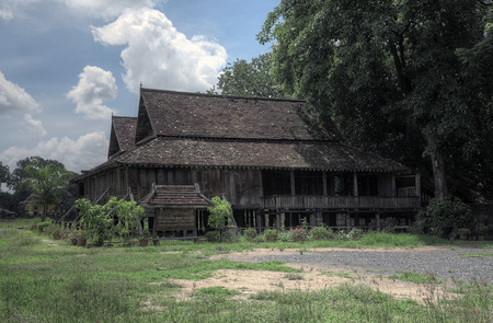 Chiang Mai, Thailand, 7 June 2014 - 140 years old ancient house reconstructed 新聞圖片