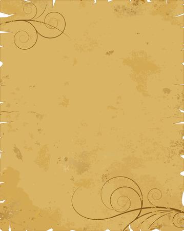 rolled paper: Stock Illustration: Old paper with design, illustration