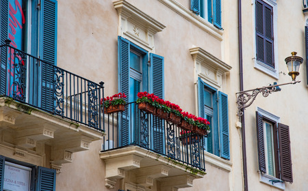 constructs: Traditional cityscape in Rome, Italy Stock Photo