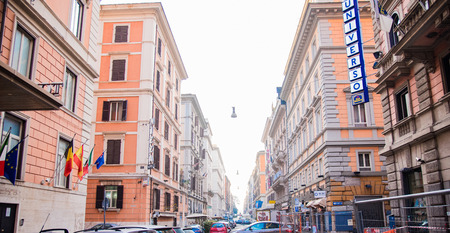 constructs: Traditional cityscape in Rome, Italy Editorial