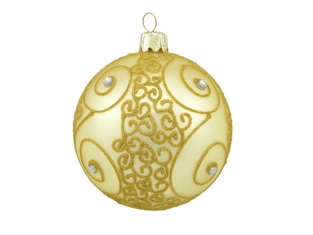 Large Christmas ball with a gold pattern