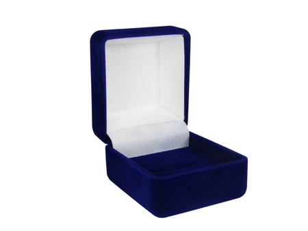 The blue small open box for jewellery
