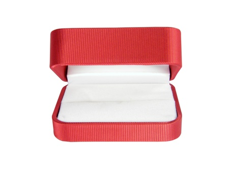 The red small open box for jewellery