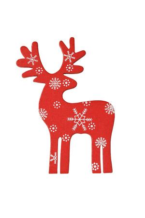 Christmas decor deer on white background Stock Photo