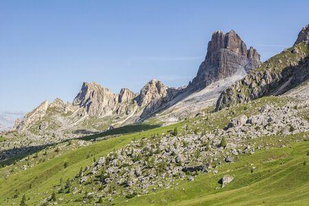 Beautiful mountain view, Giau Pass, Dolomites, Italy Imagens
