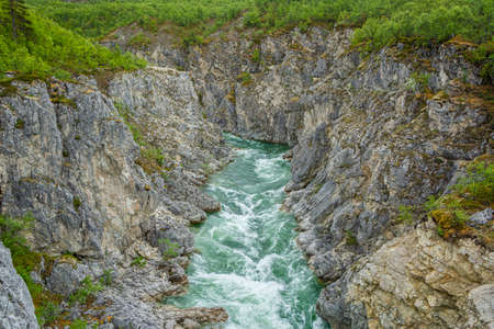 View of The Silfar Canyon, Borselv, Norway
