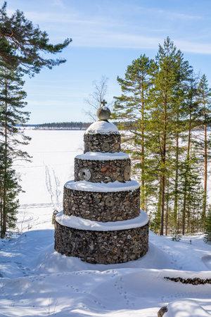 View of the Labor Memorial, Hyterma (Hytermä), Savonlinna, Finland