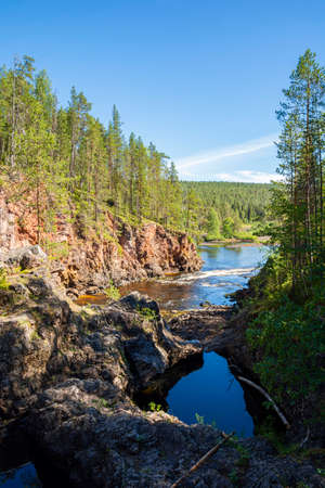 View of Kiutakongas Rapids, Oulanka National Park, Kuusamo, Finland