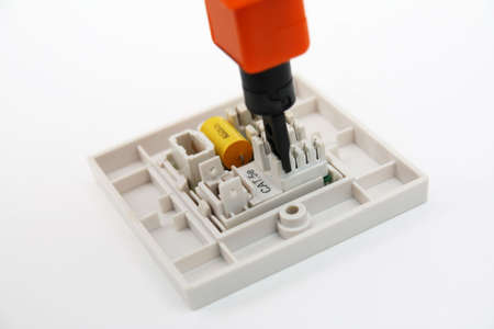 Punch-down Tool On RJ45 Wall Socket Stock Photo, Picture And Royalty ...