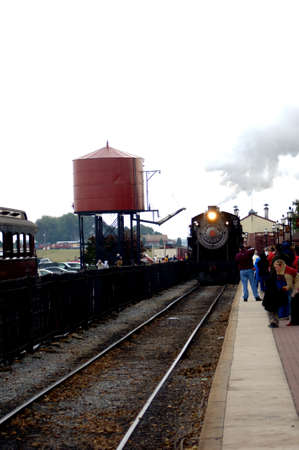 constitutionality: Train arriving at station